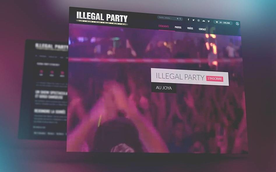 Illegal Party Site web