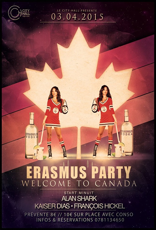 erasmus party flyer